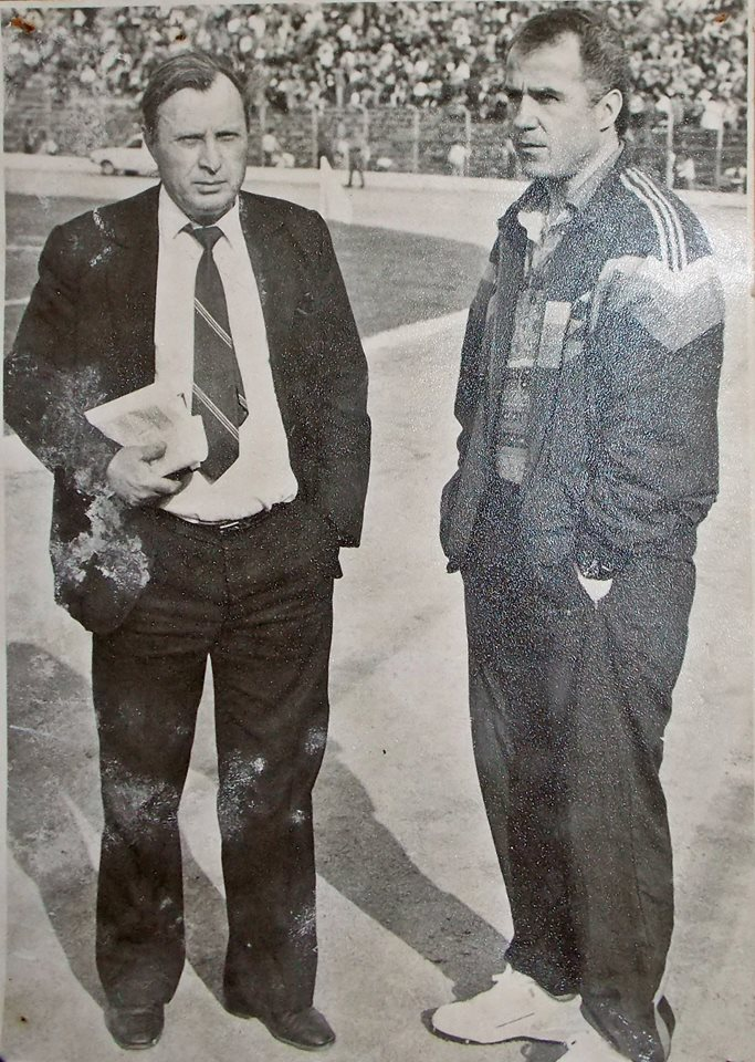 1992 Dacia Unirea Braila antrenor Titi Dumitriu si presedinte Octavian Ulman