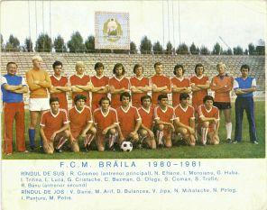 FCM Braila 1980-1981